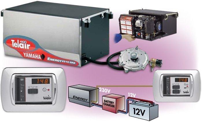 TELAIR generator gas-benzine 230/ 13,5V