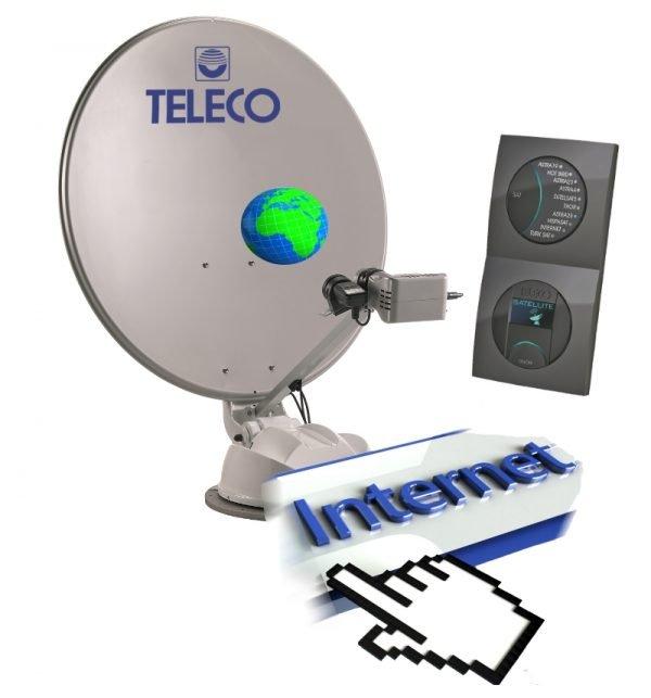 Teleco internet satelliet antenne automatisch schotel