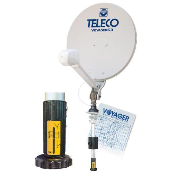 Voyager half automatische manuela satelliet schotel antenne