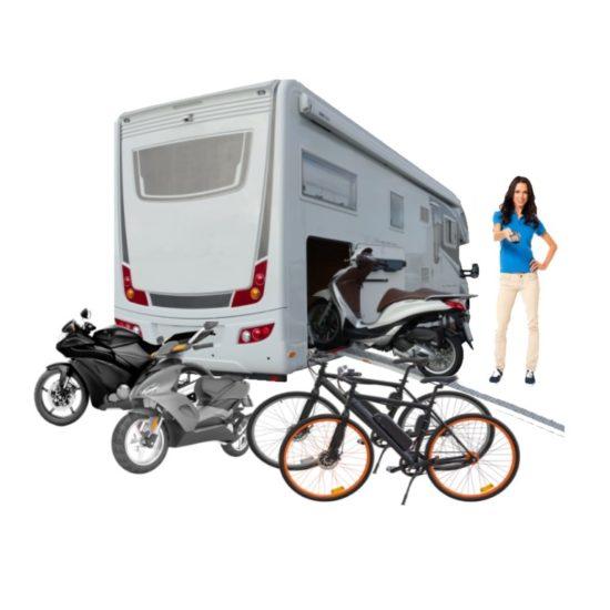 Fiets-E-Bike, Scooter en motor laadbaan voor garage - Camper