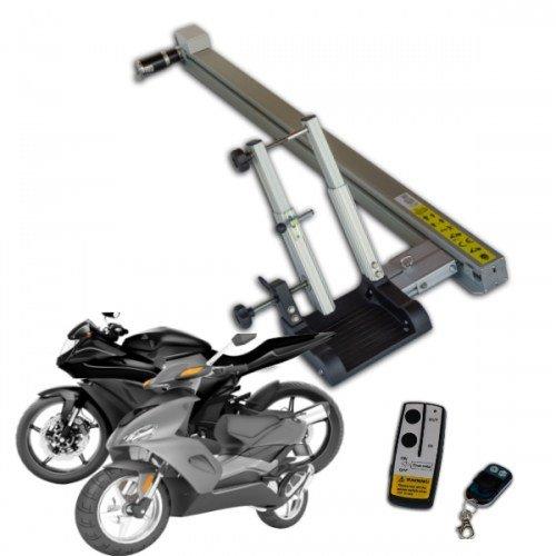 Automatische-scooter-motor-laadbaan-camper