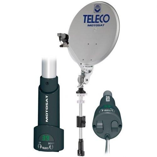 motosat half automatische manuela satelliet schotel antenne