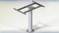 Stla 1 Column Tafelpoot Aluminium