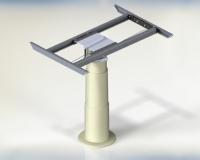 Stla 1 Cosmo2 Tafelpoot Inschuifbaar Aluminium