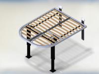 Stla 1 Lisbona Mechanisch Bed Automatisch Omhoog Omlaag Lattenbodem