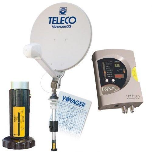 voyager digitmatic dsf80/E half automatische manuela satelliet schotel antenne